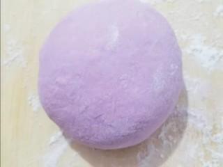 紫薯发面饼,包成包子