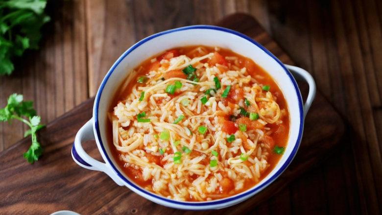 番茄金针菇烩饭,图二