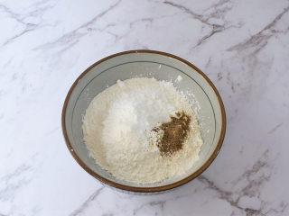 香酥小鸡腿,面粉50克+淀粉50克+盐1克+黑胡椒粉1克,混合均匀