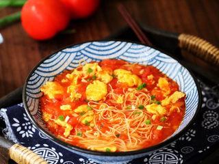 西红柿鸡蛋面,成品图