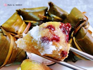 红豆粽子,红豆糯米粽入口香甜软糯还有超级筋道的口感