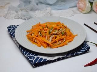 胡萝卜炒肉丝