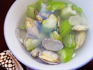 絲瓜花蛤湯,鮮美的花蛤絲瓜湯。