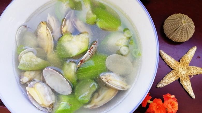 絲瓜花蛤湯
