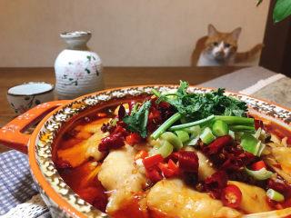 水煮龍利魚,哈哈!我家咪咪已經急不可耐了。