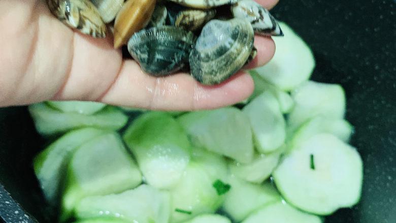 丝瓜花蛤汤,加花蛤