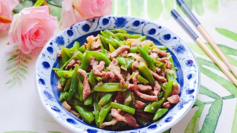 四季豆炒肉,成品图