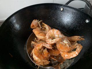 美味佳肴虾锅,控干水