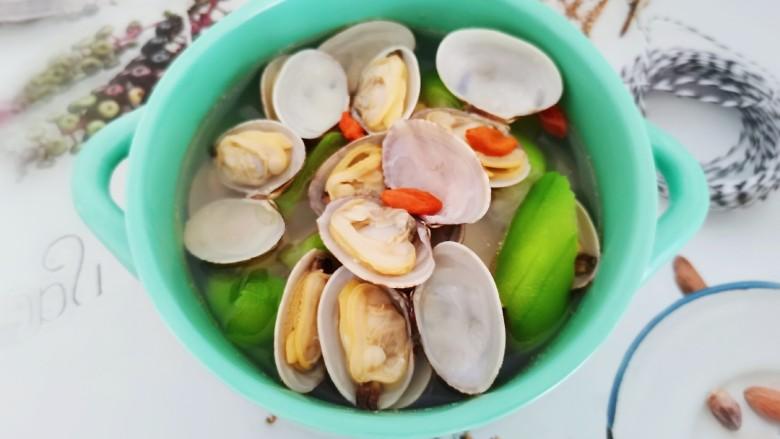 丝瓜花蛤汤