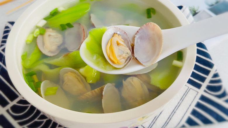 丝瓜花蛤汤,丝瓜花蛤汤,清甜鲜美!