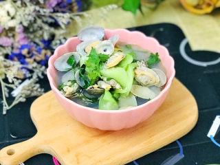 丝瓜花蛤汤,一碗鲜美的丝瓜花蛤汤就做好了