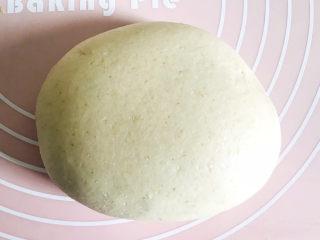 鲅鱼水饺,面粉加水,调成光滑的面团