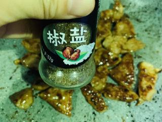 椒盐里脊,两面微焦,撒椒盐