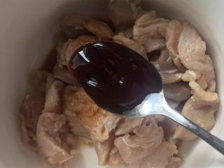 椒盐里脊,加入一勺蚝油