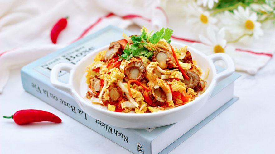 白菜心红油扇贝肉