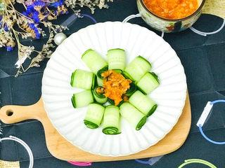 蒜泥黄瓜,漂亮又好吃😋