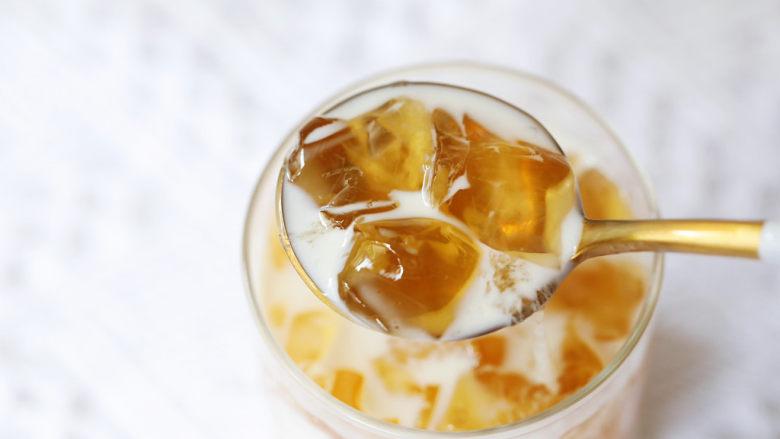 蜜桃乌龙茶冻撞奶,图三