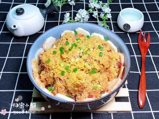 小米蒸排骨,鲜香软糯的小米蒸排骨上桌了!
