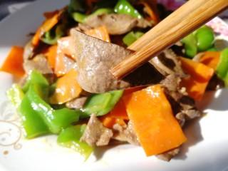 青椒炒猪肝,猪肝滑嫩无腥味。