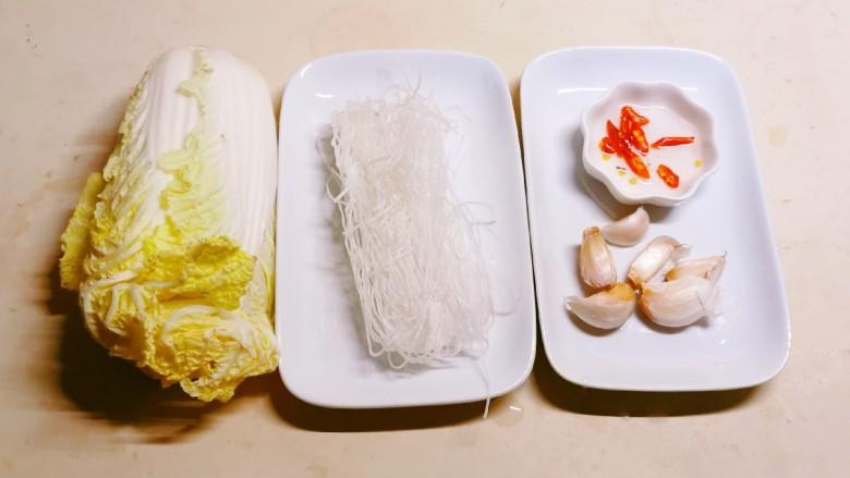 蒜蓉娃娃菜,食材准备好