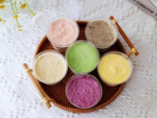 一个配方6种口味的冰淇淋,成品图