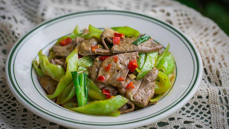 青椒炒猪肝,成品2