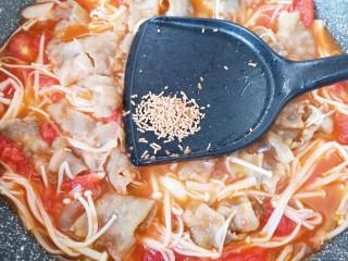 金针菇肥牛卷,放原味鲜增加口感。