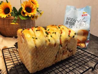 香葱火腿肉松手撕面包
