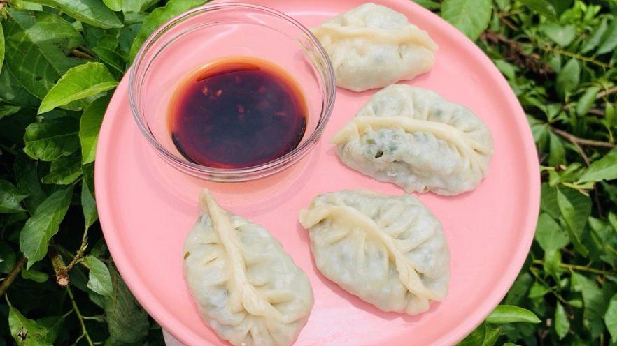 韭菜粉丝蒸饺