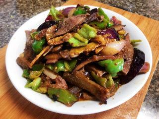 青椒炒猪肝,成品