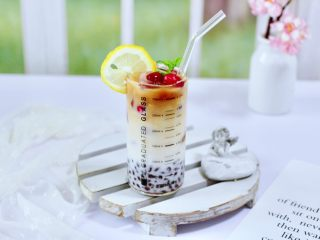 蜜豆椰奶冰果冰咖啡
