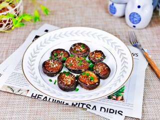 孜然烤香菇,香菇这样做真的超好吃。