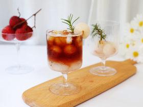 荔枝气泡冰咖啡