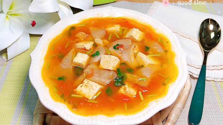 平菇豆腐汤