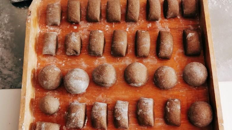 荞麦馒头,依次全部做好  静置 二次发酵