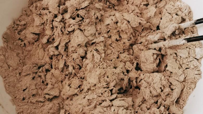 荞麦馒头,水慢慢添加 搅拌成絮状