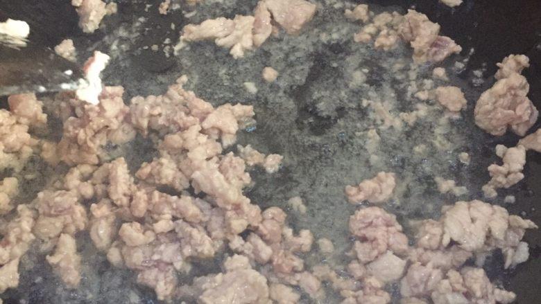 肉末炒豌豆,表面看不出颜色