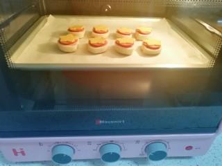 烤馒头片,上下管180度烤5分钟。