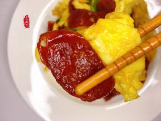 香肠炒蛋,香脆软嫩不干,鸡蛋滑嫩