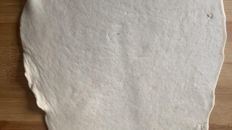 香肠馒头卷,剩下的面做花卷擀平
