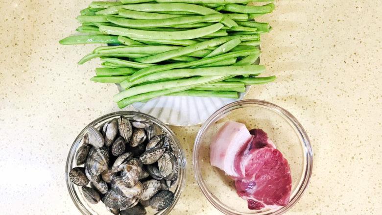 海鲜豆角焖面,准备好食材