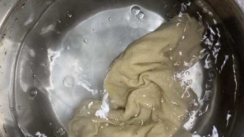 紫薯玫瑰花馒头,加蒸布全部浸湿