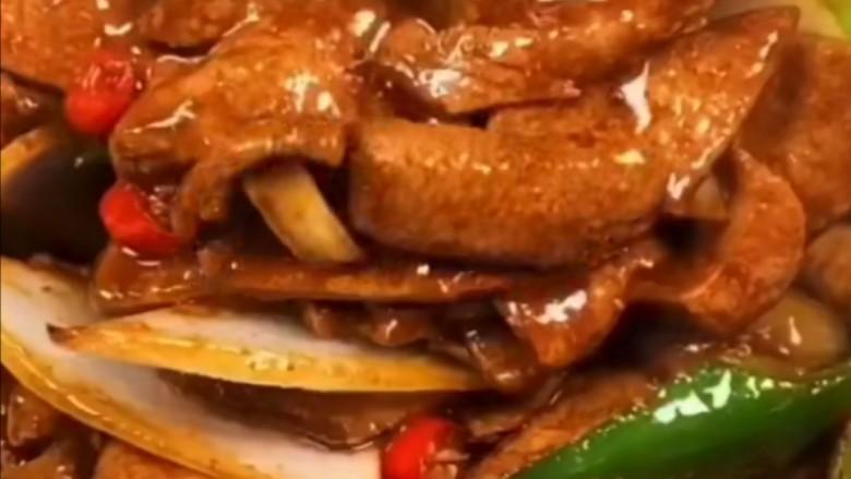 Stir-fried pork liver with onions