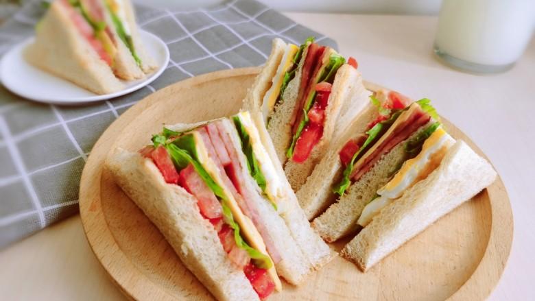 芝士火腿三明治,喜欢的试试吧!