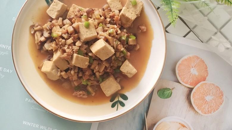 香菇肉末豆腐,大家快来试试,绝对不会失望的