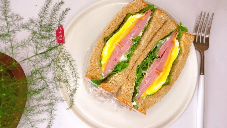 芝士火腿三明治,吃下午,一上午能量满满哦~