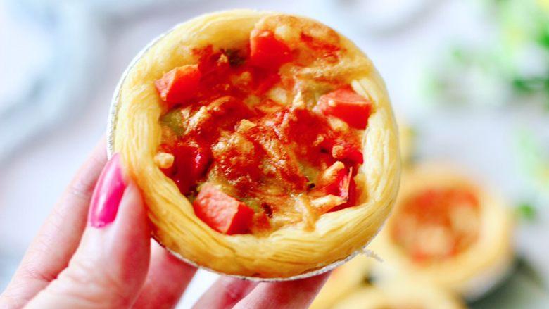 蛋挞火腿时蔬小披萨,一口一个停不下来。