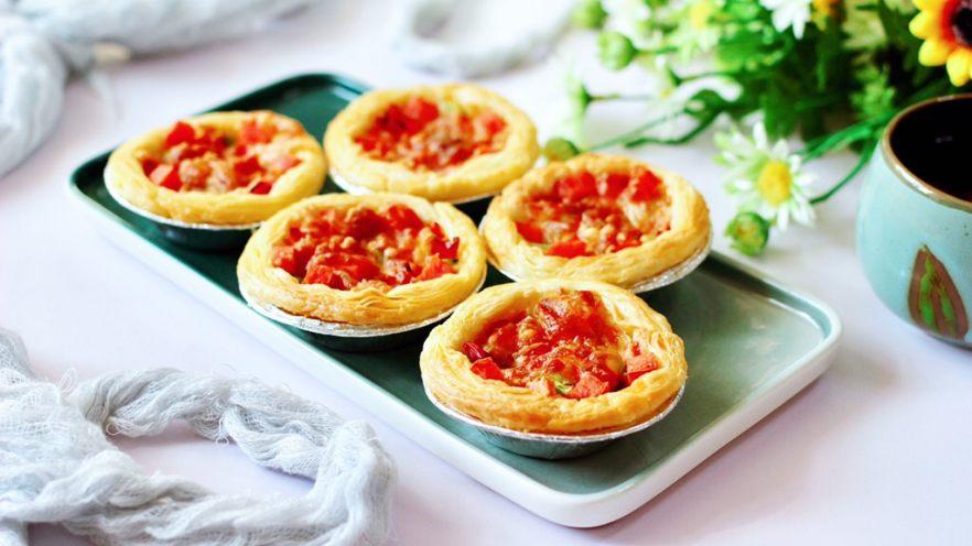 蛋挞火腿时蔬小披萨