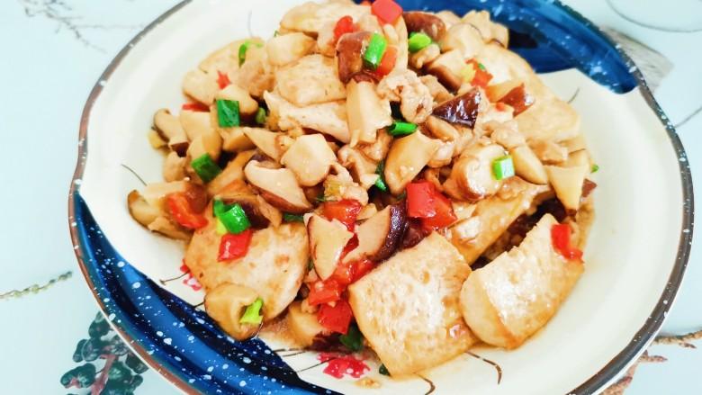 香菇肉末豆腐,香菇肉末豆腐成品图