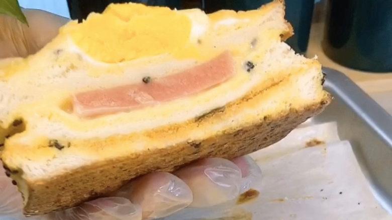 芝士火腿三明治,早餐来一份,足